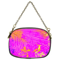 Spring Tropical Floral Palm Bird Chain Purses (Two Sides)