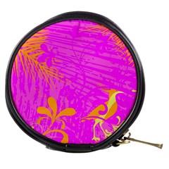 Spring Tropical Floral Palm Bird Mini Makeup Bags