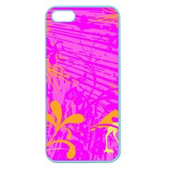 Spring Tropical Floral Palm Bird Apple Seamless Iphone 5 Case (color)