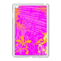 Spring Tropical Floral Palm Bird Apple iPad Mini Case (White)