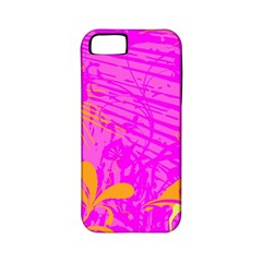 Spring Tropical Floral Palm Bird Apple Iphone 5 Classic Hardshell Case (pc+silicone)