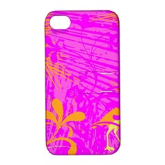 Spring Tropical Floral Palm Bird Apple iPhone 4/4S Hardshell Case with Stand