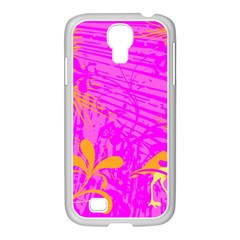 Spring Tropical Floral Palm Bird Samsung Galaxy S4 I9500/ I9505 Case (white)