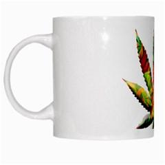 Marijuana Leaf Bright Graphic White Mugs