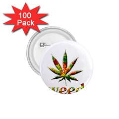 Marijuana Leaf Bright Graphic 1.75  Buttons (100 pack)