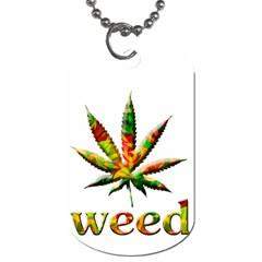 Marijuana Leaf Bright Graphic Dog Tag (one Side)