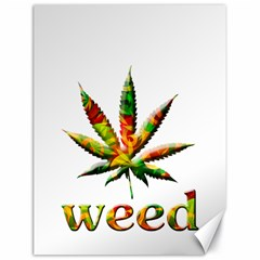 Marijuana Leaf Bright Graphic Canvas 18  X 24