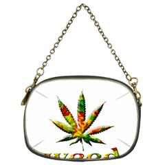 Marijuana Leaf Bright Graphic Chain Purses (Two Sides)