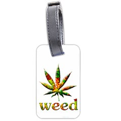 Marijuana Leaf Bright Graphic Luggage Tags (one Side)