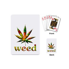 Marijuana Leaf Bright Graphic Playing Cards (mini)