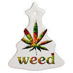 Marijuana Leaf Bright Graphic Ornament (Christmas Tree)  Front