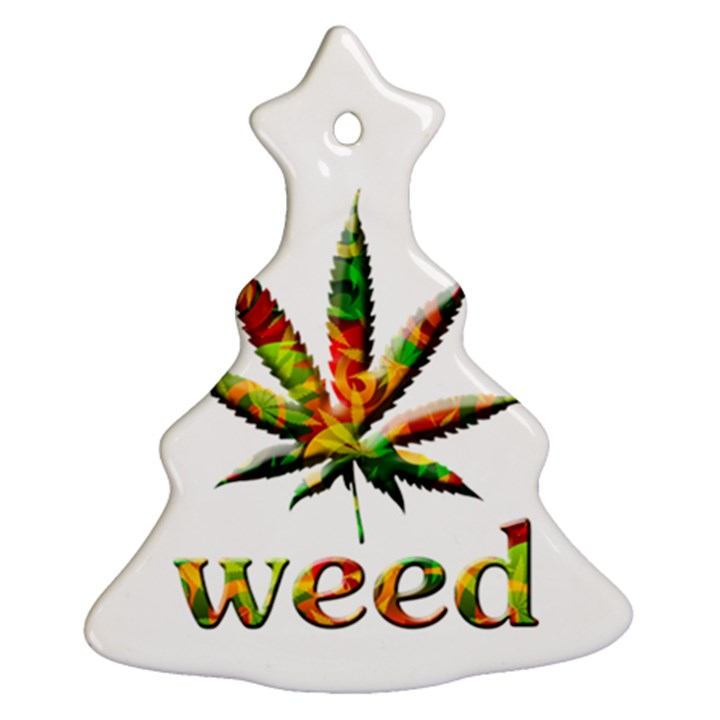 Marijuana Leaf Bright Graphic Ornament (Christmas Tree)