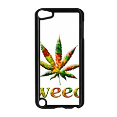 Marijuana Leaf Bright Graphic Apple Ipod Touch 5 Case (black)