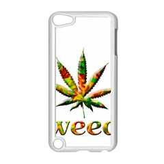 Marijuana Leaf Bright Graphic Apple iPod Touch 5 Case (White)