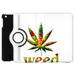 Marijuana Leaf Bright Graphic Apple iPad Mini Flip 360 Case