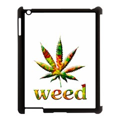 Marijuana Leaf Bright Graphic Apple iPad 3/4 Case (Black)