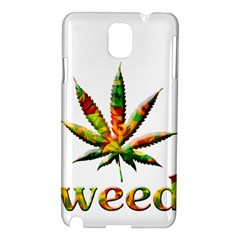 Marijuana Leaf Bright Graphic Samsung Galaxy Note 3 N9005 Hardshell Case
