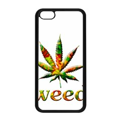 Marijuana Leaf Bright Graphic Apple iPhone 5C Seamless Case (Black)