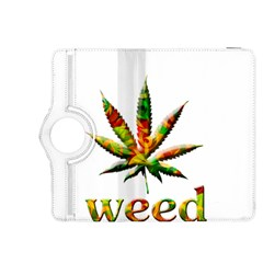 Marijuana Leaf Bright Graphic Kindle Fire HDX 8.9  Flip 360 Case