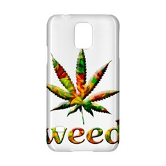 Marijuana Leaf Bright Graphic Samsung Galaxy S5 Hardshell Case