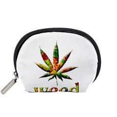 Marijuana Leaf Bright Graphic Accessory Pouches (Small)