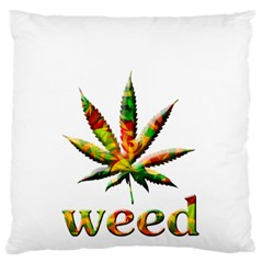 Marijuana Leaf Bright Graphic Standard Flano Cushion Case (Two Sides)