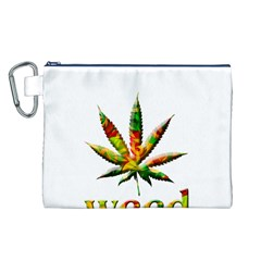 Marijuana Leaf Bright Graphic Canvas Cosmetic Bag (L)