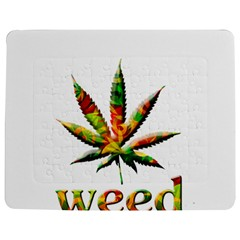 Marijuana Leaf Bright Graphic Jigsaw Puzzle Photo Stand (Rectangular)