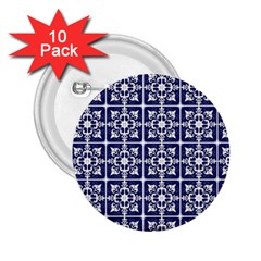 Leaves Horizontal Grey Urban 2 25  Buttons (10 Pack)