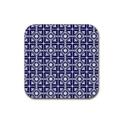 Leaves Horizontal Grey Urban Rubber Coaster (square)