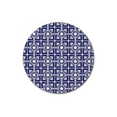 Leaves Horizontal Grey Urban Magnet 3  (Round)