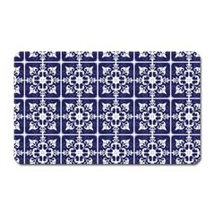 Leaves Horizontal Grey Urban Magnet (rectangular)