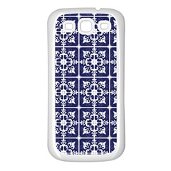 Leaves Horizontal Grey Urban Samsung Galaxy S3 Back Case (White)