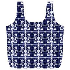 Leaves Horizontal Grey Urban Full Print Recycle Bags (l)