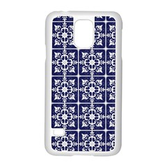 Leaves Horizontal Grey Urban Samsung Galaxy S5 Case (White)