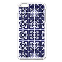 Leaves Horizontal Grey Urban Apple iPhone 6 Plus/6S Plus Enamel White Case