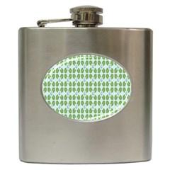 Leaf Flower Floral Green Hip Flask (6 oz)