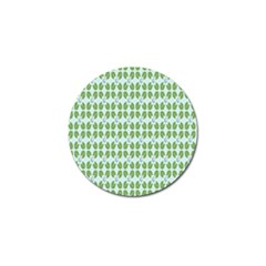Leaf Flower Floral Green Golf Ball Marker (4 pack)