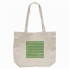 Leaf Flower Floral Green Tote Bag (Cream)