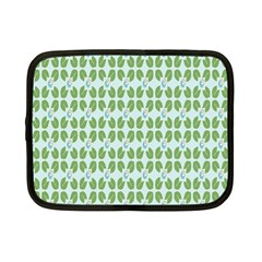 Leaf Flower Floral Green Netbook Case (Small)