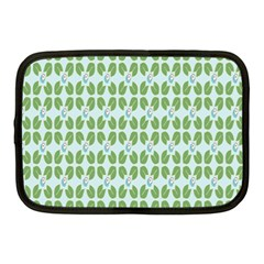 Leaf Flower Floral Green Netbook Case (Medium)