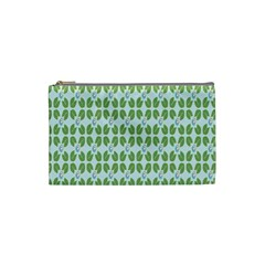 Leaf Flower Floral Green Cosmetic Bag (Small)