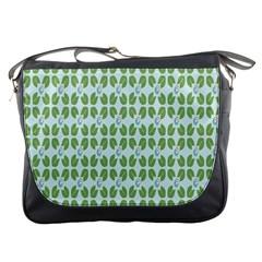 Leaf Flower Floral Green Messenger Bags