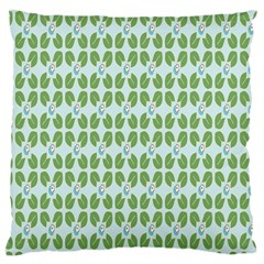 Leaf Flower Floral Green Large Cushion Case (Two Sides)