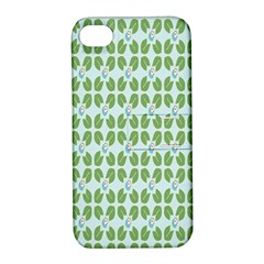 Leaf Flower Floral Green Apple iPhone 4/4S Hardshell Case with Stand