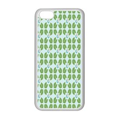 Leaf Flower Floral Green Apple iPhone 5C Seamless Case (White)
