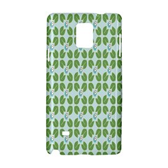 Leaf Flower Floral Green Samsung Galaxy Note 4 Hardshell Case