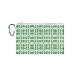 Leaf Flower Floral Green Canvas Cosmetic Bag (S)