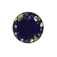 Spring Wind Flower Floral Leaf Star Purple Green Frame Hat Clip Ball Marker