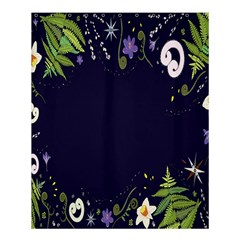 Spring Wind Flower Floral Leaf Star Purple Green Frame Shower Curtain 60  x 72  (Medium)